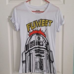 Star Wars R2 D2 Fuweet T Shirt Rolled Sleeves